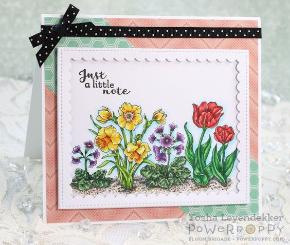 Natural Beauties Stamp Set by Power Poppy, card design by Tosha Leyendekker.