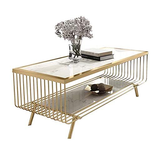Wsxx Nordic Living Room Marble Coffee Table Rectangular Creative Simple Tempered Glass Table Coffee Table Nordic Living Room Glass Table