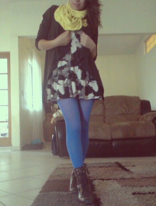 medias de color azul
