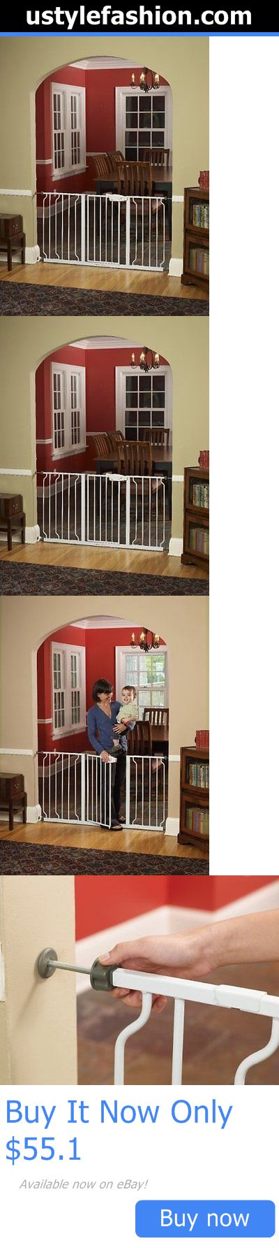 Baby Safety Gates: Walk Thru Baby Pet Safety Secure Extra Wide Gate Door BUY IT NOW ONLY: $55.1 #ustylefashionBabySafetyGates OR #ustylefashion