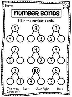 Number bonds, Number bonds worksheets and Numbers on Pinterest
