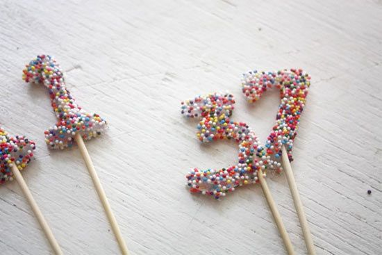DIY Colorful Sprinkle Cake Numbers : Factory Direct Craft Blog