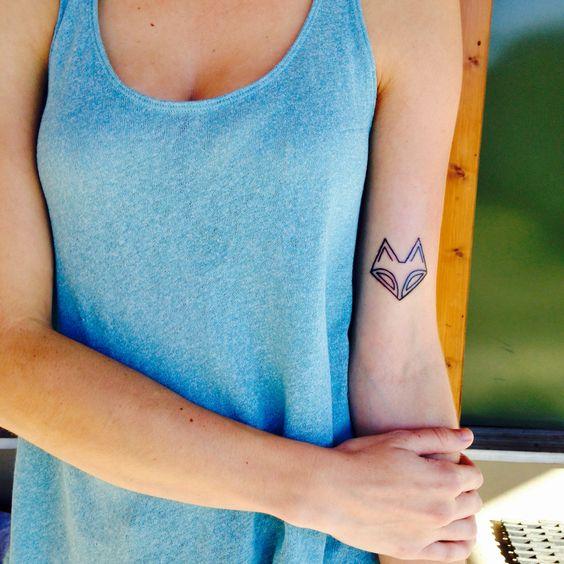 Fox tattoo bicep tattoo outline tattoo red letter tattoo