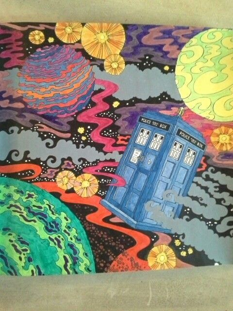 Doctor Who Coloring Book Best Of Doctor Who Colouring Book Tardis In Flight Using Acrylics Coloring Books Mermaid Coloring Pages Kitty Coloring
