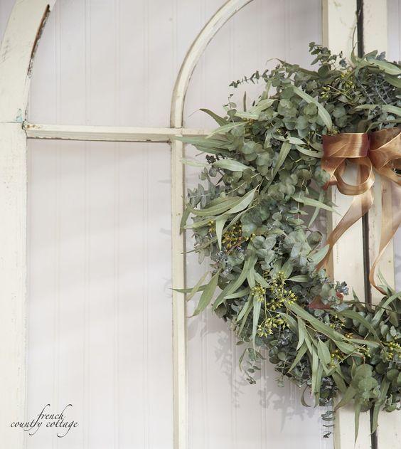 FRENCH COUNTRY COTTAGE: Fresh Eucalyptus Wreath