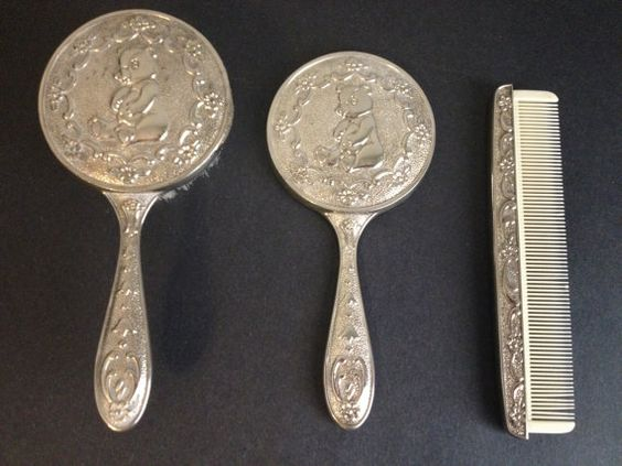 Silver Plate Vintage Silver And Baby Set On Pinterest