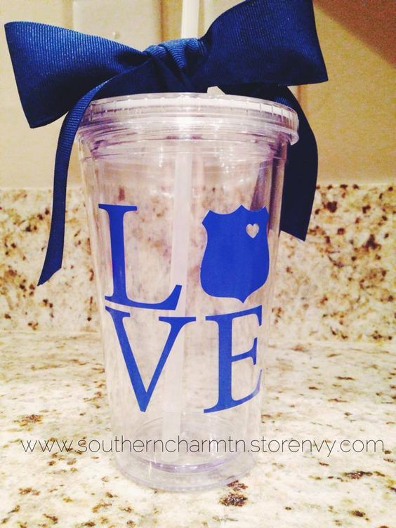 This LEO Love 16 oz. Tumbler is BPA Free acrylic, double wall insulated, and come with a screw on lid and plastic straw.  Our vinyl is rated top quality on all our items and has an outdoor life of 6 years.  Please keep in mind It is rated to last for up to 6 years when used outdoors in normal c...