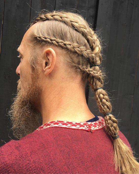 long hairstyles men, Viking Haircut