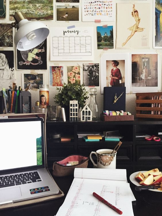 """studyrose: """" wednesday, january 20 // 16:32 got my snack, got my tea, got my tunes…ready to cram for this CLEP exam i have on friday. i've got two hours till i have to leave for rehearsal, gotta make..."""