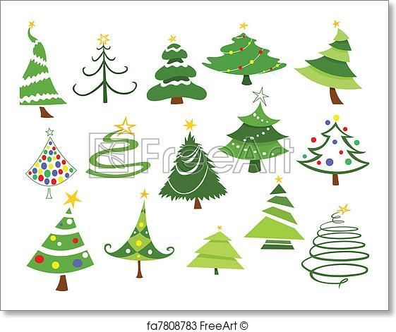 Christmas Trees Artwork Art Print From Freeart Com Christmas Drawing Christmas Watercolor Christmas Stencils
