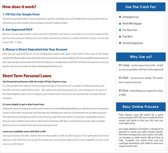 PolarexpressloansCom  Quick  Easy Online Process For Cash Loans