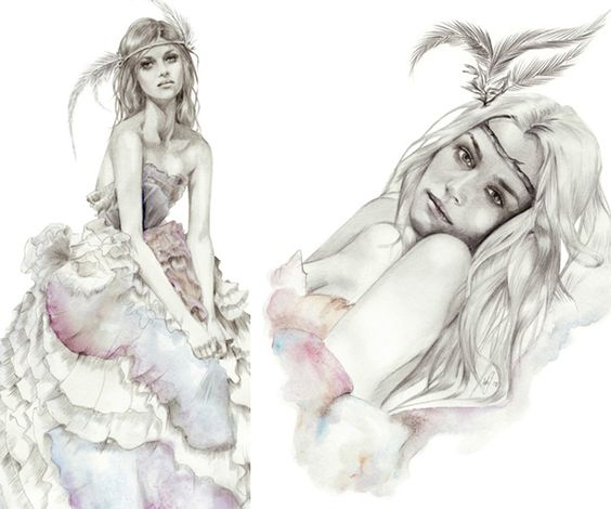 i love kelly smith's illustrations... so realistic and detailed but light and airy.