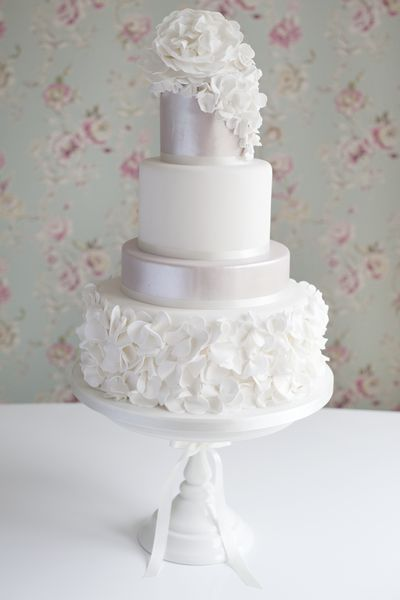 Ruffles wedding cake by Cotton and Crumbs, via Flickr