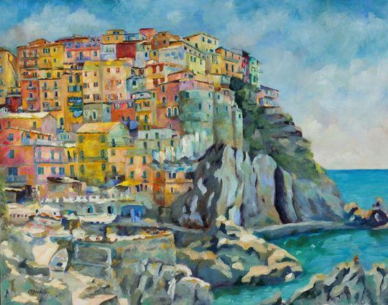 Cinque Terre - Chris Brandley Fine Art