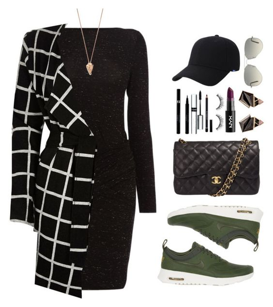 """Gigi"" by dontneedfashion ❤ liked on Polyvore featuring NIKE, Karen Millen, River Island, Chanel, Pamela Love, Nak Armstrong, Sisley, Sephora Collection, By Terry and Givenchy"