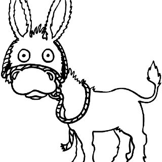 Print and color a Donkey!