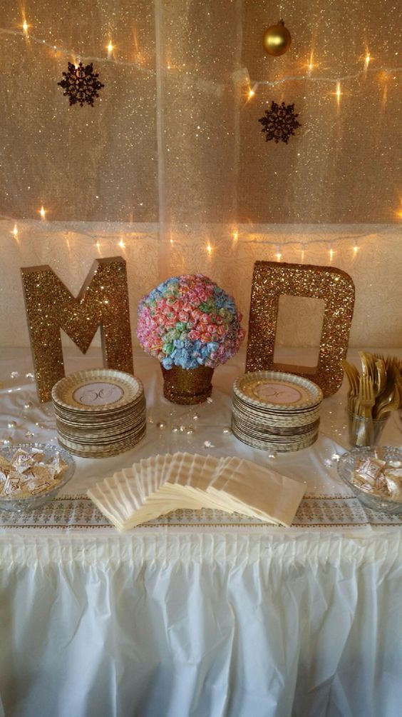 Glitter letters glitter and lollipops on pinterest for Anniversary decoration ideas