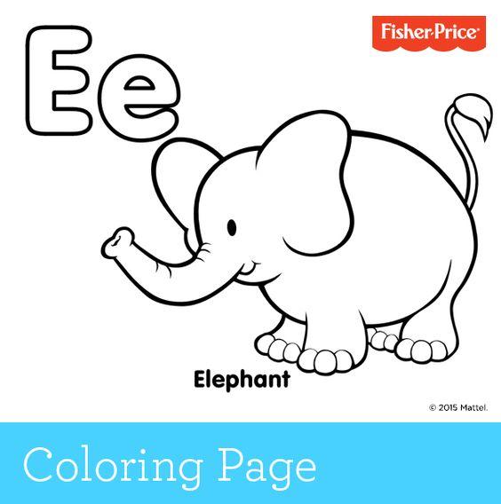 e elephant coloring pages - photo#18
