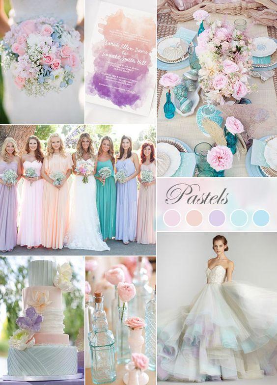 Pastels are always good for a wedding color theme // Pastellfarben eignen sich immer für die Hochzeits Farbpalette