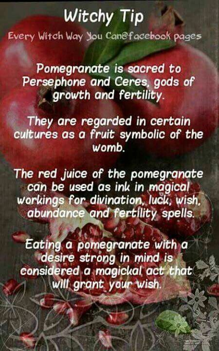 Witchy Tip - Pomegranate