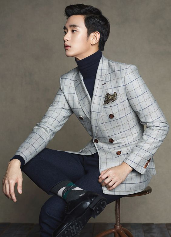 GUY CANDY: Kim Soo Hyun photo shoot for ZioZia's 2014 fall fashion