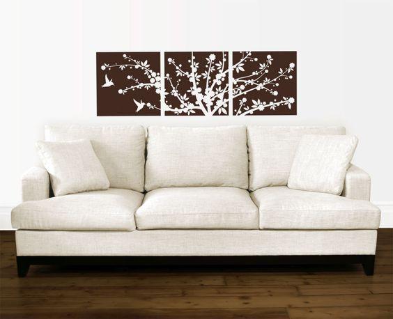 Cherry Blossoms Flower Tree Hummingbirds Vinyl Wall Decal Sticker Art Home Decor   eBay