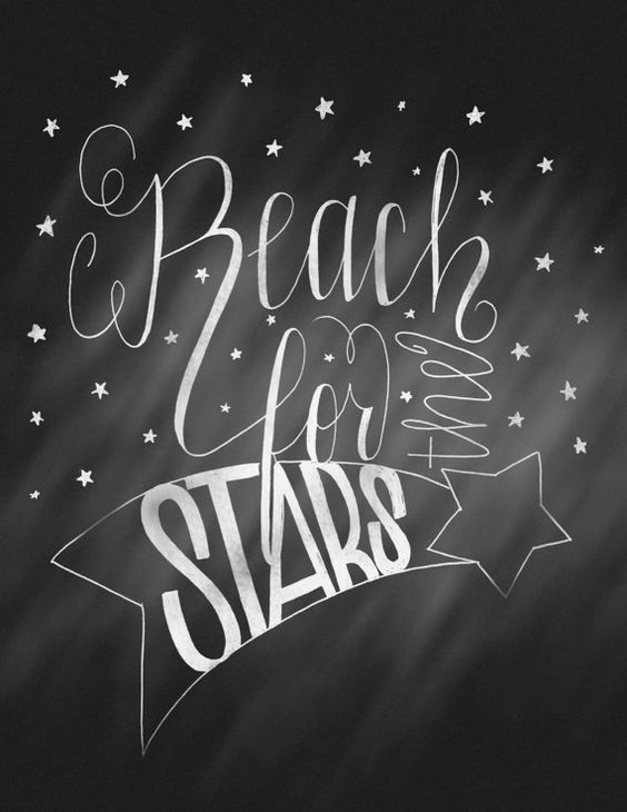 """Reach For The Stars Illustration, 8.5""""x11"""":"""