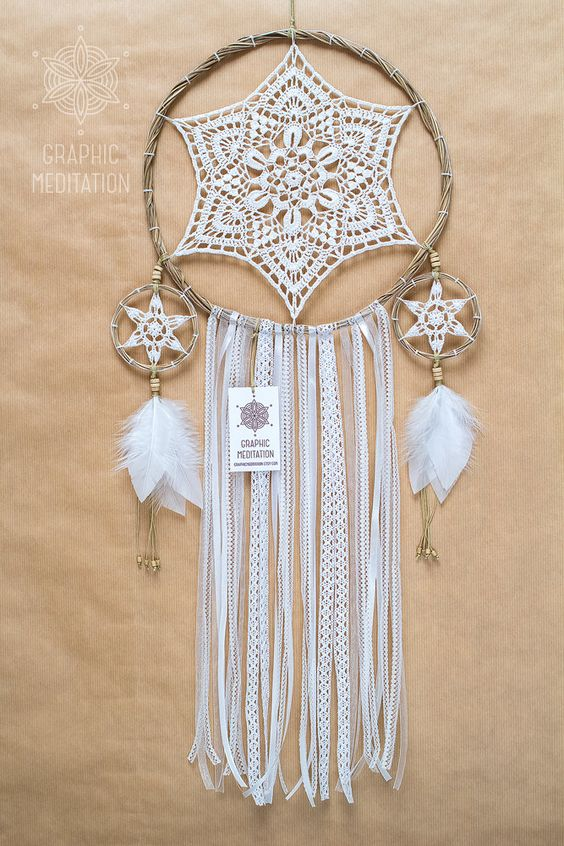 10 crochet crochet boho doily 10 doilies bohemian weddings boho ...