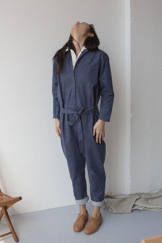 Base Range Silk Denim Jumpsuit