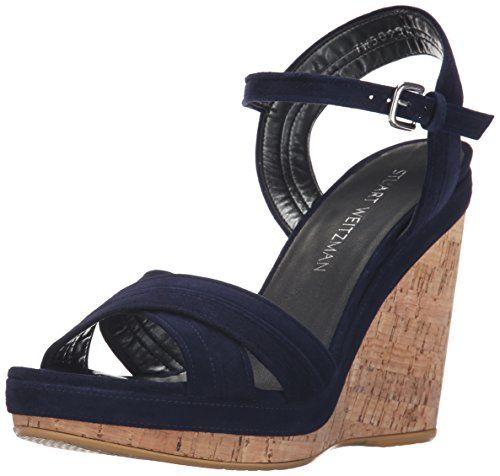 STUART WEITZMAN Stuart Weitzman Women'S Minky Wedge Sandal. #stuartweitzman #shoes #shoes