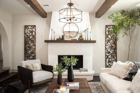 Amazing Boho Fireplace