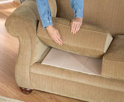 fix a sagging sofa just by putting cardboard under the cushions... | Feenay  | Pinterest | Furniture repair, Online gift and DIY ideas
