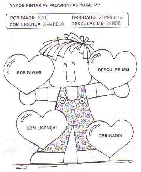 Palavrinhas Magicas Educacao Infantil Projeto Valores Educacao