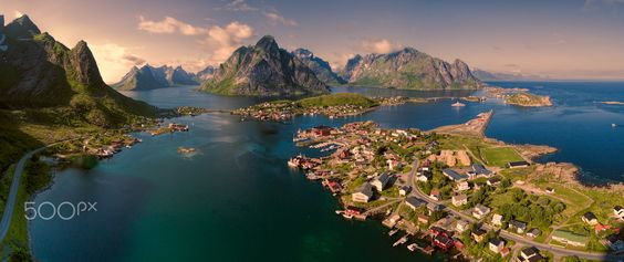 Aerial Lofoten panorama by Tomáš Gríger - Photo 129204165 - 500px