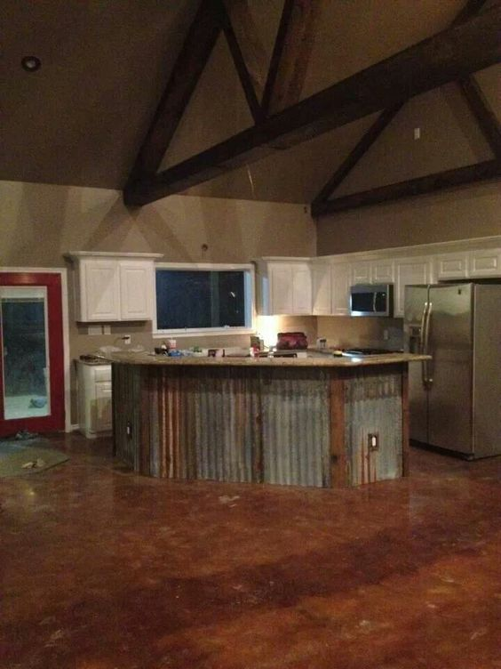 The White Corrugated Metal And Cabinets On Pinterest