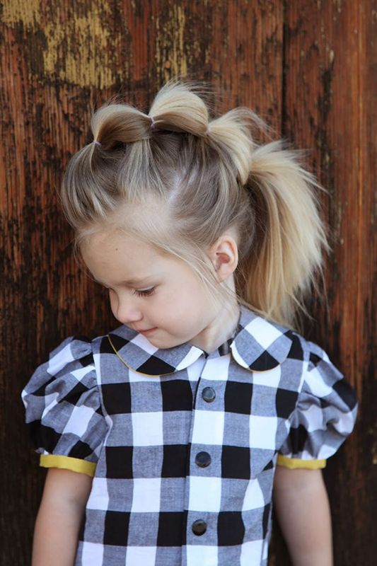 Fave Stylish Little Girl Hairstyles Mohawk Bubble Pony Via - Hairstyle for 3 year girl