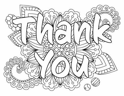 7 Free Printable Thank You Coloring Pages Printable Coloring Cards Coloring Pages Inspirational Coloring Pages