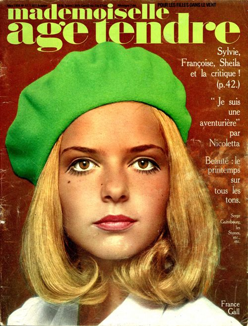 France Gall for 'Mademoiselle Age Tendre', 1968