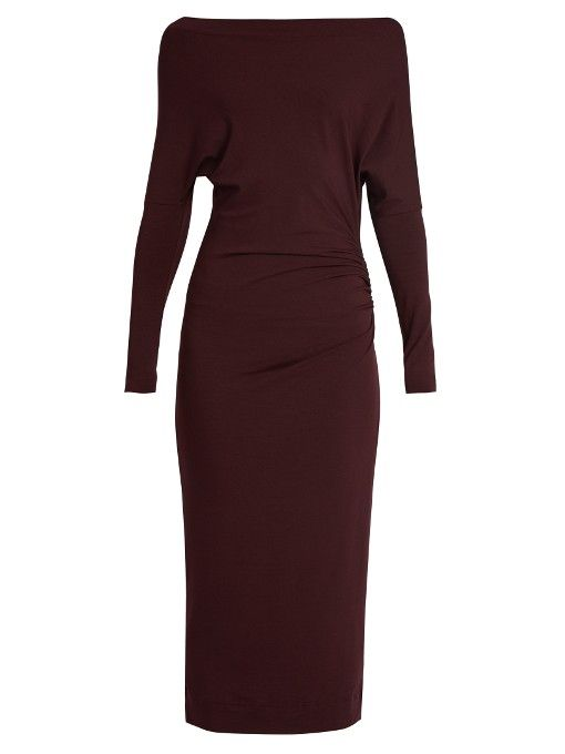 Vivienne Westwood Anglomania Boat-neck jersey midi dress