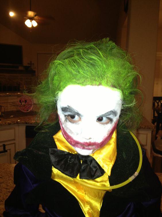 My three year old daughter as the Joker. Halloween 2012