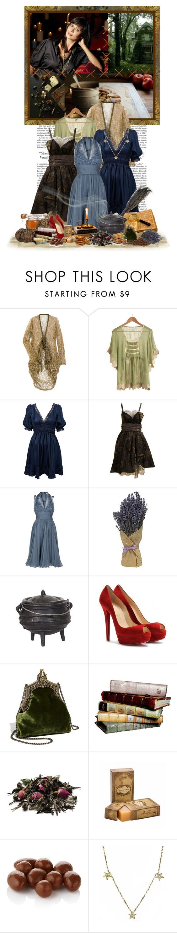 77/100 - Catherine Bell as Cassandra Nightingale by cherrygoodday on Polyvore featuring Miss Selfridge, Christian Lacroix, Elie Saab, One Vintage, Christian Louboutin, House of Harlow 1960, KC Designs, Fauchon, the good witch and movie