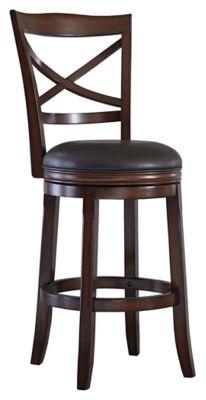 Signature Design Porter Tall Upholstered Swivel Barstool Set Of