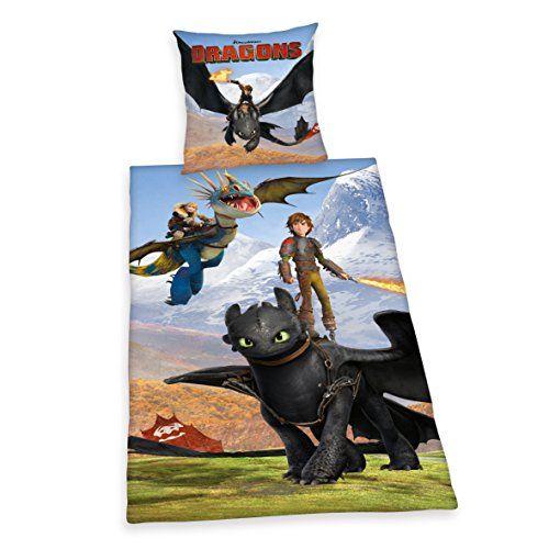 http://ift.tt/1OdsJND Herding 442658050 Bettwäsche Dragons Kopfkissenbezug 80 x 80 cm und Bettbezug 135 x 200 cm 100 % Baumwolle Renforce #c@!