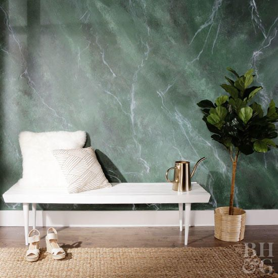 Learn How To Paint A Marble Inspired Wall Treatment Faux Painting Walls Faux Walls Interior Wall Paint