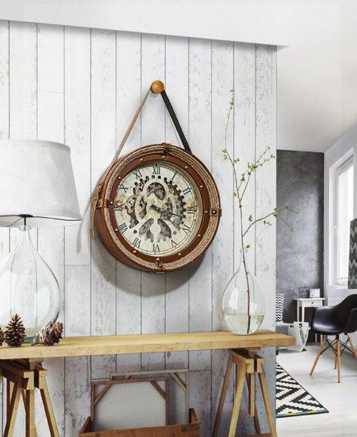 Reloj De Pared De Estilo Clasico Modelo Canfranc Relojes De Pared Relojes De Pared Grande Espejo Redondo Para Bano