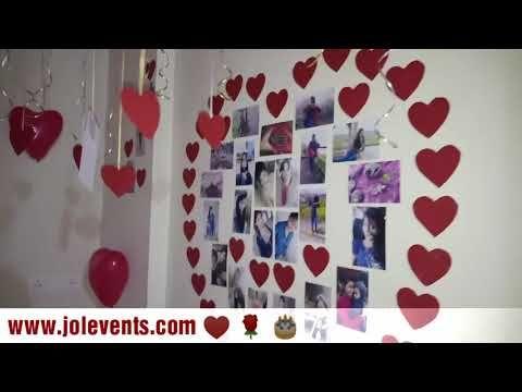 Romantic Room Decoration Ideas Surprise Anniversary Valentine