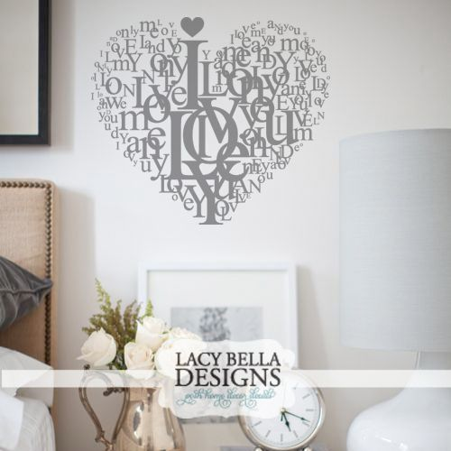 I Love You Personalized Decorative Wall Art Vinyl Decal Vinyl - Custom vinyl stickers for bedroom