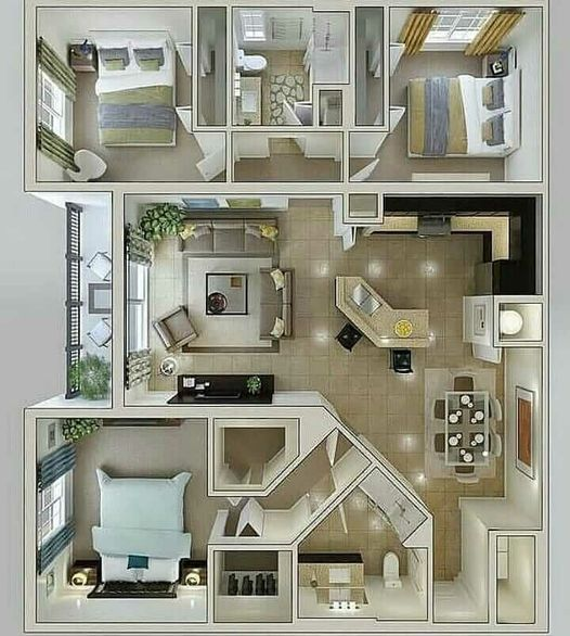 Pin By Ghayath On Family Home Plans House Floor Plans House Layout Plans Floor Plan Design