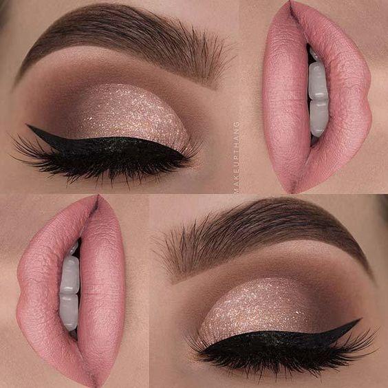23 Glam Makeup Ideas for Christmas: #9. SUBTLE SHIMMER; #makeup