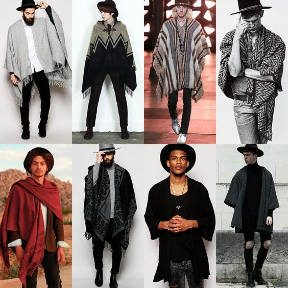 men's capes and ponchos